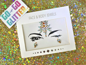 ✦ QUEEN B ✦ FACE JEWELS - Go-Go Glitter NZ Festival Glitter New Zealand GOGOGLITTER Go Go Glitter