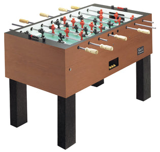 Shelti Pro Foos III Sovereign Cherry Laminate w/ 3- Man Goalie Foosball Table [BS-K-AA]