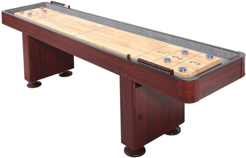 SplashNet Challenger 12 ft Shuffleboard Table - Dark Cherry