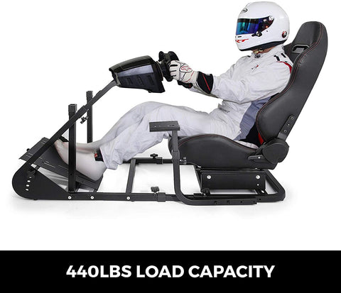 Image of VEVOR Simulator Cockpit with Real Racing Seat Simulator