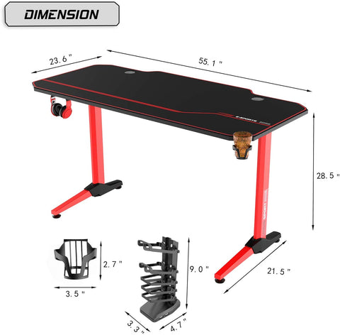 Image of Vitesse Gaming Desk Racing Style Computer Desk
