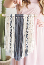 Load image into Gallery viewer, Yarn Wall Hanging Boho Decor - Decorative Interior Tapestry Bedroom Wall Decor Nursery Room Bohemian Art Decor - GRAY 17.5 x 24 inch