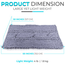 Load image into Gallery viewer, Chunky Knit Blanket - 50x60 inch Handmade from Polyester Chenille Chunk Yarn