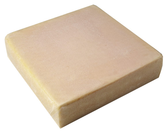 Raclette Cheese from Switzerland with rind, square