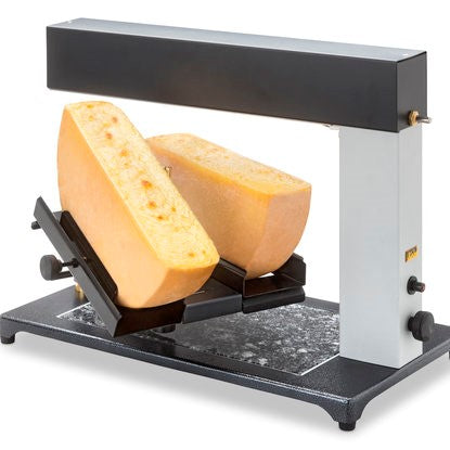 Raclette Melter for 2 half wheels, gas powered