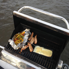 Raclette on the boat's grill