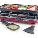Raclette grill Valais for 8 with non-stick grill top
