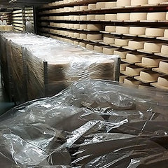 Cheese is being packed to age in the cellars in the valley