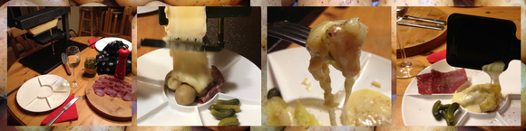 Raclette Cheese melting