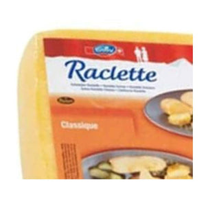 Emmi Raclette Cheese from Switzerland, 1/4 square 3.5lbs