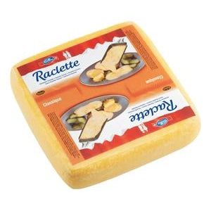 Emmi Raclette Cheese, square, 14 lbs.