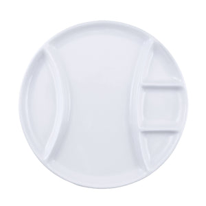 Raclette / Fondue Plates from Swissmar, white, round set of 4