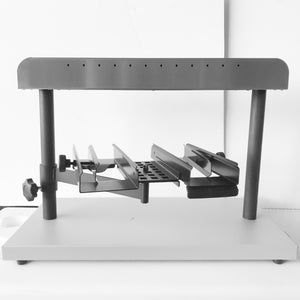 "Raclette Melter Zinal ""double lift"" to hold 2 half wheels at cheese for professional use"