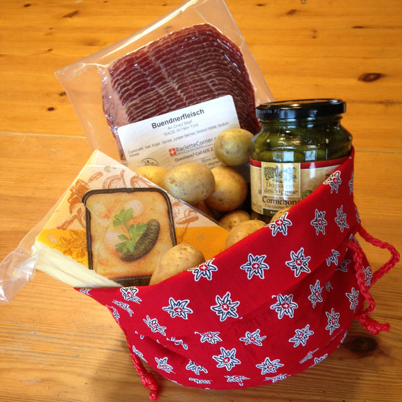 Gift Bag - Red Potato bag with Emmi Cheese for 4-6 persons