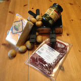 Raclette Gift Bundle with melter, cheese, Buenderfleisch, potatoes and cornichons