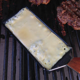 Raclette on the grill for cheese burger