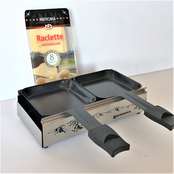 Gift Bundle - Raclette candle light Melter Alpine with Raclette Cheese