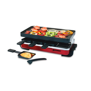 Swissmar - 8 Person Red Classic Raclette Grill w/revers. non-stick top