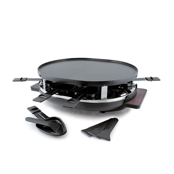 Swissmar - 8 Person Matterhorn Oval Raclette Grill reversible non-stick top