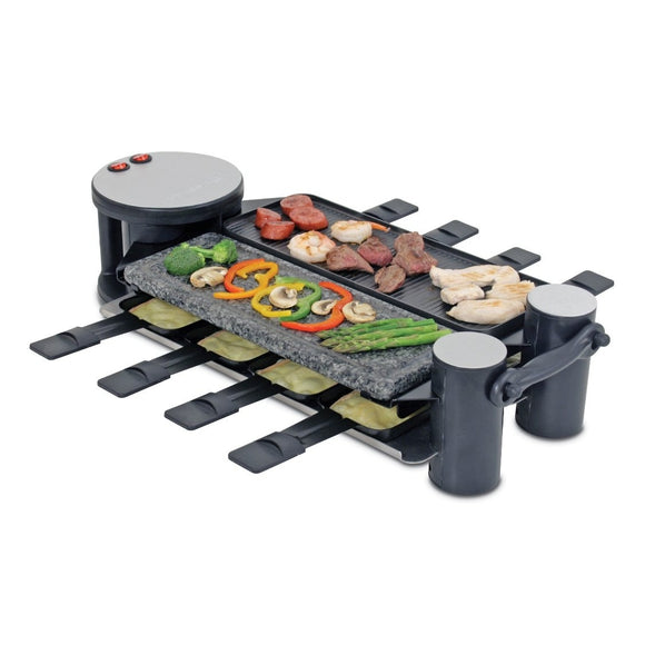 Swissmar - 8 Person Swivel Raclette w/Stone and aluminum top, closed