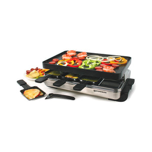 Swissmar - 8 Person Stelvio Raclette Grill with revers. non-stick top