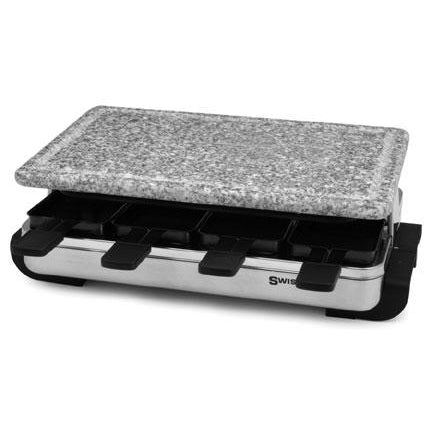 Swissmar - 8 Person Stelvio Raclette Party Grill with Granite Stone