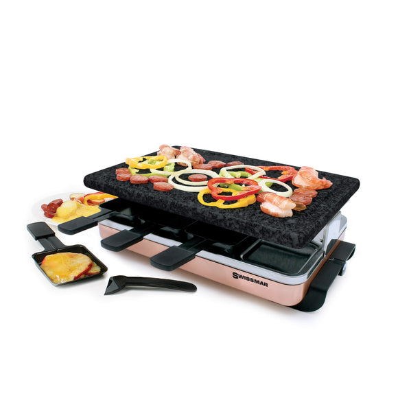 Swissmar Classic Raclette Grill Red Non Stick Reversible 8 Person