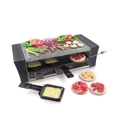 Swissmar Raclette/Pizza grill LOCARNO for 8 with Granite stone top