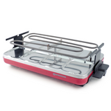 Base of Valais Raclette grill red metallic