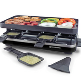 KF-77094 Raclette grill with non-stick top in use