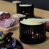 Raclette melter LUMI with raclette cheese