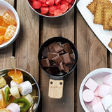 Variety of dipping items for chocolate fondue