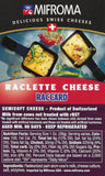 Nutrition label raclette cheese from Mifroma Switzerland
