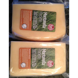 Montanella Raclette Cheese, 2 blocks, 3.5 lbs