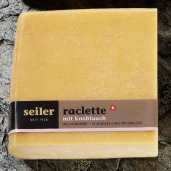 Raclette cheese with garlic