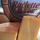 Raclette cheese from France, cut edge