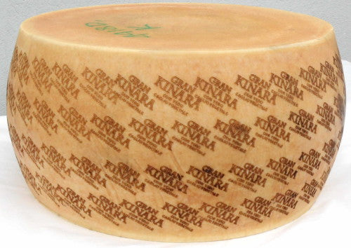 Gran Kinara, kosher hard cheese, 20 lbs quarter wheel