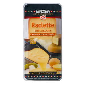 Mifroma smoked sliced raclette cheese from Switzerland