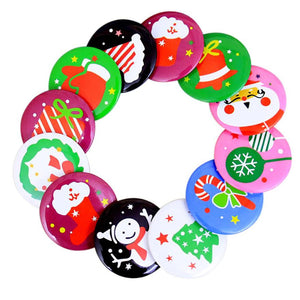 10PC Christmas Brooch Badge Suit Hats Brooches Decoration Christmas Pendant