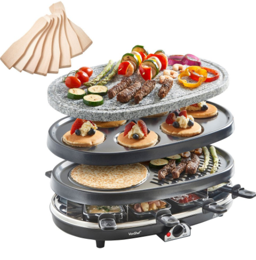 KITCHEN 3 IN 1 RACLETTE CRILL