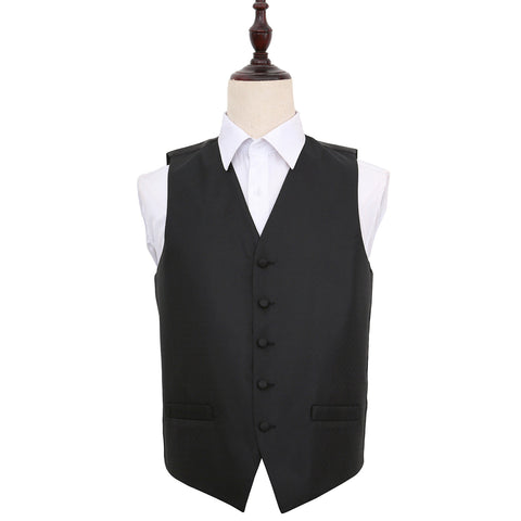 TiesDirect.co.uk - Greek Key Waistcoat Colour black