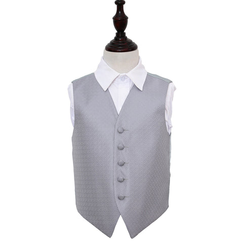 TiesDirect.co.uk - Greek Key Waistcoat - Boys Colour silver