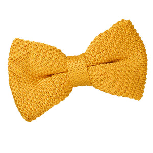 TiesDirect.co.uk - Plain Knitted Pre-Tied Bow Tie Colour marigold-yellow