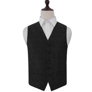 TiesDirect.co.uk - Paisley Waistcoat Colour black