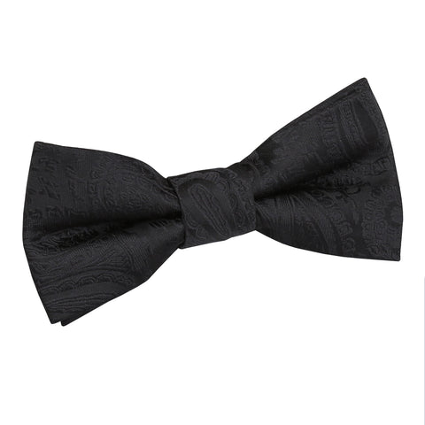 TiesDirect.co.uk - Paisley Pre-Tied Bow Tie - Boys Colour black