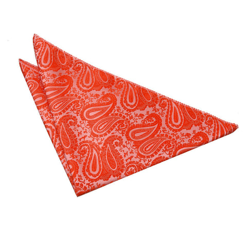 TiesDirect.co.uk - Paisley Handkerchief Colour burnt-orange