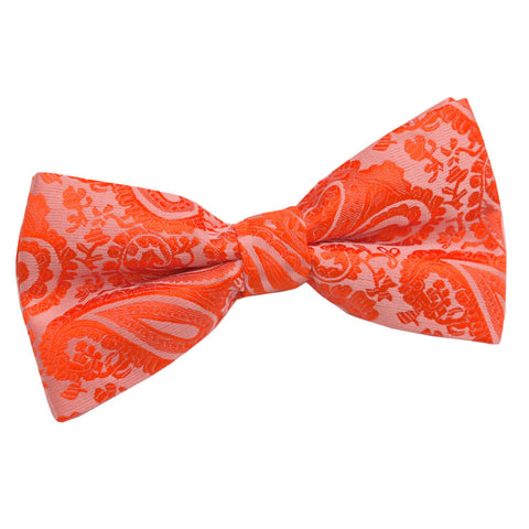 TiesDirect.co.uk - Paisley Pre-Tied Bow Tie Colour burnt-orange