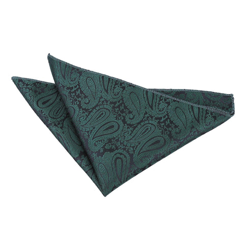 TiesDirect.co.uk - Paisley Handkerchief Colour emerald-green
