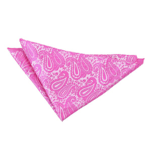 TiesDirect.co.uk - Paisley Handkerchief Colour fuchsia-pink