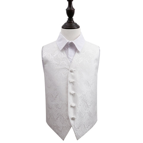 TiesDirect.co.uk - Paisley Waistcoat - Boys Colour ivory